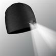 POWERCAP LED Lighted Beanie Hats (Black) - Black 100% Compression Fleece, blank