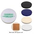 "Round Ceramic Coaster, spot color - 4-1/2"" dia round ceramic coaster with cork backing, 1/2"" thick. Spot color."
