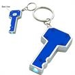 Light Up Keychain - Key Shaped - Blue - Light up keychain, key shaped, blue. Blank.