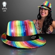 Sequin Fedora hat with flashing LED lights