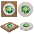Round Absorbent Stone Coaster Duo - Set of two round absorbent stone coasters with cork backing.