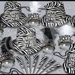 Zebra Print New Year's Eve Party Kit for 50 - Zebra print New Year's Eve party kit for 50 people. Blank.