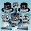 Silver and Ebony Fantasy New Year's Eve Party Kit for 50 - Silver and ebony fantasy New Year's Eve party kit for 50 people. Blank.
