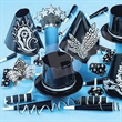 Gatsby Black and Silver New Year's Eve Party Kit - Black and Silver New Year's Eve party kit for 50. Blank.