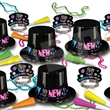 Neon New Year's Eve Party Kit for 50 - Neon New Year's Eve party kit for 50 people. Blank.