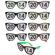 Sunglasses with full lens logo - 80s style sunglasses with removable mesh decal.
