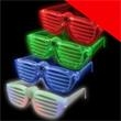 LED Rock Star Shutter Shades - Assorted Light Up - LED rock star shutter shades, assorted.
