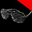 Camouflage Shutter Shade Slotted Eye Glasses Light Up - Camouflage shutter shade slotted eye glasses.