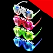 LED New Year Shutter Shades - Assorted Light Up - LED New Year shutter shades, assorted.