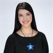 Acrylic star blinking necklace