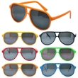 Plastic Aviator Sunglasses Fun Colors - Plastic aviator sunglasses with UV400 lenses.