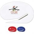 Oval Letter Opener - Solid color oval shaped letter opener with safety blade.