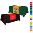 """Table Runner - (Top, 18"""" front) - 28"""" x 48"""" 65/35 polyester-cotton twill table runner with rolled hem made of washable, flame retardant material."""
