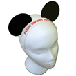 Mouse Ears with Elastic Band - Mouse ears with elastic band made from 14 pt., high density, white poster board.