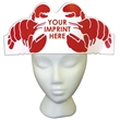Lobster Hat - Lobster hat made from 14 pt. high density, white poster board.
