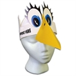 Bird Headband - Bird visor made from 14 pt. high density, white poster board.