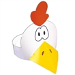 Chicken Headband - Chicken visor made from 14 pt., high density, white poster board.