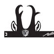 Buck Antler Headband - Buck antler visor made from 14 pt., high density, white poster board.