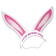 Rabbit Ears with Elastic Band - Rabbit ears with elastic band made from 14 pt. high density, white poster board.
