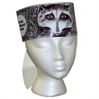 Raccoon Headband - Raccoon hat made from 14 pt., high density, white poster board. Recyclable.