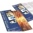 "Large run full color brochures - Large run full color white gloss brochures, 11"" x 8 1/2"", 100 lb cover."