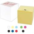 """2 3/4"""" x 2 3/4"""" x 1 3/8"""" Custom Cube - 2 3/4"""" custom 300-sheet cube in white or canary yellow paper. Short run 2 color."""