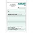 "Snap set job work order forms - Snap set 3-part job work order forms, 5 1/2"" x 8 1/2""."
