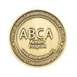 "Zinc 1.5"" Challenge Coin Antique Gold Plating"