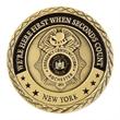 "Brass Challenge Coin Antique Gold Plating 1.5"""
