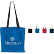 Accent Magazine Tote - Tote bag with contrast stitching and webbing handles.