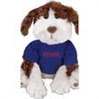 "Gund (R) Plush Stuffed Dog (Benjamin) - Stuffed brown and white toy dog, 9.5""."