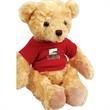 """Chelsea Plush Honey Bear Teddy Bear - Bear with overall size 10.5""""."""