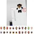 "Chelsea (TM) Plush Wild Bunch Magnets - Magnet plush animal toy, 4.5""."