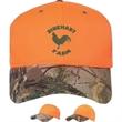 Blaze Cap with Camo Visor - Orange cap with camouflage visor.