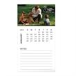 30 mil Business Card Magnet and 12 Sheet Calendar - Business card magnet with a 12 sheet calendar, 30 mil. thick magnet.