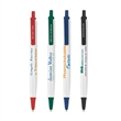 Ecolutions® Tri-Stic® - Pen with white barrel and colored trim, made with 73% pre-consumer recycled plastic.