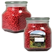 Large Glass Apothecary Jar with Cinnamon Red Hots Candy