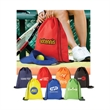 Drawstring Backpack - Drawstring backpack made of 80 GSM non-woven fabric.