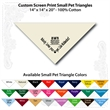 "Small Custom Print Natural Pet Triangle Bandanna - Custom print small natural pet bandanna, 14""x14""x20"",100% cotton, 5 star supplier."