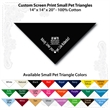 "Small Custom Print Pet Black Triangle Bandanna - Custom print small pet black bandanna, 14""x14""x20"", 100% cotton, 5 star supplier."