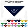 "Small Custom Print Pet Navy Triangle Bandanna - Custom print small pet navy bandanna, 14""x14""x20"", 100% cotton, 5 star supplier."