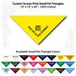 "Small Custom Print Pet Triangle Lemon Yellow Bandanna - Custom print small pet lemon yellow bandana, 14x14x20"",100% cotton, 5 star supplier."