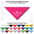"Small Custom Print Pet Triangle Hot PinkBandanna - Custom print small pet hot pink bandanna,14""x14""x20"",100% cotton, 5 star supplier."
