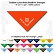 "Small Custom Print Pet Triangle Orange Bandanna - Custom print small pet orange bandanna, 14""x14""x20"", 100% cotton, 5 star supplier."