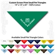 "Small Custom Print Pet Triangle Teal Bandanna - Custom print small pet teal bandanna, 14""x14""x20"",100% cotton, 5 star supplier."