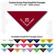 "Small Custom Print Pet Triangle Wine Bandanna - Custom print small pet wine bandanna, 14""x14""x20"", 100% cotton, 5 star supplier."