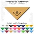"Small Custom Print Pet Triangle Tan Bandanna - Custom print small pet tan bandanna, 14""x14""x20"", 100% cotton, 5 star supplier."