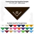 "Small Custom Print Pet Triangle Cocoa Brown Bandanna - Custom print small pet cocoa brown bandana,14""x14""x20"",100% cotton, 5 star supplier."
