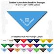 "Small Custom Print Pet Triangle Columbia Blue Bandanna - Custom print small pet columbia blue bandana,14x14x20"",100% cotton, 5 star supplier."