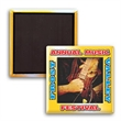 """Square Button w/ Magnet - 2"""" x 2"""" square button with magnetic backing and a four-color process imprint."""